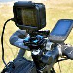 自転車に自由雲台とGoPro